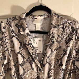 H&M Midi Dress, Snakeskin Print, Size US 6- NWT